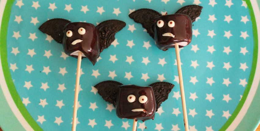 Des Chamallows super-bat pour Halloween !